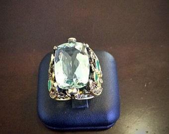 Charming green amethyst ring