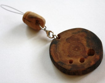 Diz and Threader, Driftwood, Three Holes, Beautiful Wood Grain - All Natural - Sold SEPARATELY OR TOGETHER