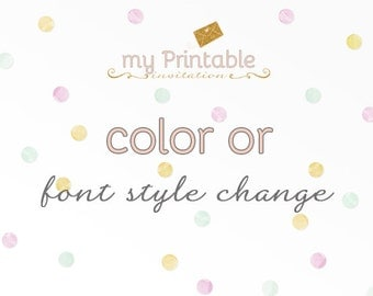 Color or Font Style Change