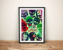 Suicide Squad,official poster,Home Decor, Hanging Art, Wall Art Decoration, Print Poster, Multiple Sizes