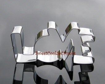 Love Cookie Cutter- Stainless Steel - USA FREE Shipping