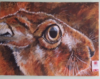 Hare, Hugh the Hare,OOAK, Original artwork, Art, Statement art, Hares, Wildlife art, British wildlife