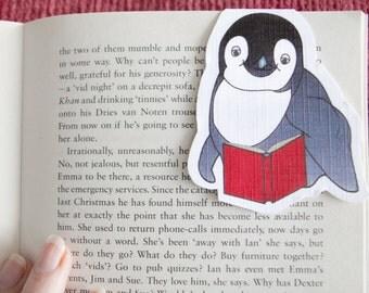 Penguin Bookmark, Magnetic Bookmark, Penguin Gift, Love Reading, Book Marks, Literary Gifts, Cute Bookmarks, Stocking Stuffer, Secret Santa