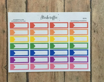 S216  Label Stickers - Rainbow Colors