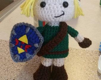 Link Legend of Zelda Crochet doll stuffy
