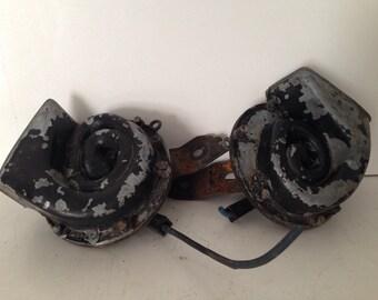 lot of vintage claghorn car horn repurpose industrial crafts parts
