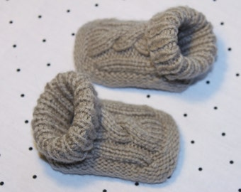Baby Bootie Shoe Cable Knit