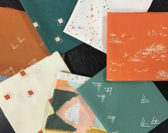 Curated Modern Fat Quarter Bundle with New Artisan and Bound Prints by Art Gallery Fabrics - 7 Fat Quarters