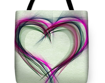 Heart of Many Colors...Tote Bag by artist MPL