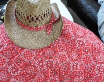 Cowboy Christmas Tree Skirt and Hat Topper