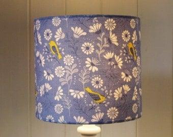 Blue Hedgerow Bird lampshade