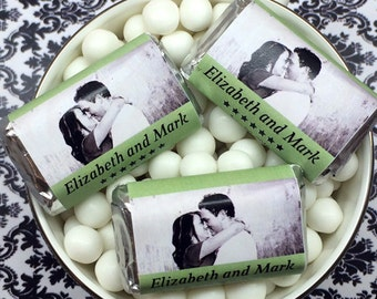 Personalized Your Photo Color Coordinated Hershey's Mini Chocolates - Pack of 100