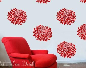 Flower Wall Decals - Flower Decals- Peony Flower decals - Bloom Decals WallPaper- Bloom Decals- Wallpaper decals