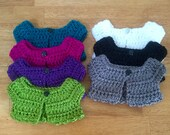 """Sweet Crocheted Bolero Sweater Cardigan for 18"""" Dolls to Complement any Outfit"""