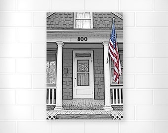 American Flag - Photo Print - Patriotic Decor - Red White and Blue - Home Decor - Fine Art Prints - Wall Art Prints - Original Artwork