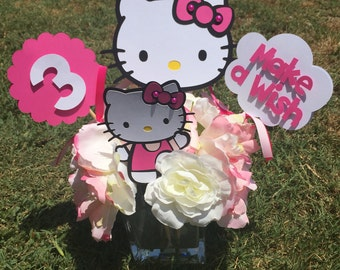 Kitty Inspired Centerpieces- SET OF 2
