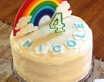 Vintage Rainbow Cake Decoration Edible : Sea Shell fondant topper 50pcs Beach cake topper beach cupcake