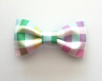 Pastel Plaid Boy Bow Tie, Plaid Boy Bow Tie, Pastel Boy Bow Tie, Easter Bow Ties, Baby Boy Bow Ties, Bow Ties, Spring Bow Ties
