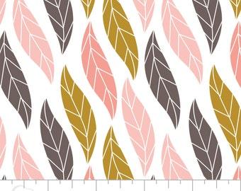 Leaf Print Cotton Fabric, 100% Cotton Quilting Fabric - Fat Quarter