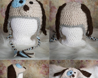 Puppy Hat, Dog hat, Newborn puppy hat, Newborn dog  hat, infant puppy hat, infant dog hat, puppy hat for babies, dog hat for babies ,
