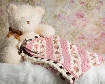 Crochet Baby Blanket, Pink Baby Blanket, Baby girl Blanket, Ready to Ship, Girls Baby blanket, Baby Blanket, Baby  Shower gift, Baby gift