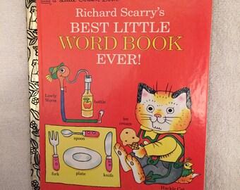 Vintage Richard Scarry's Best Little Word Book Ever! Little Golden Book
