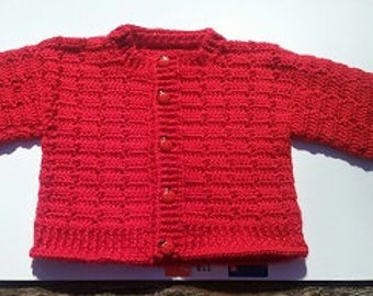 Ladybug, heavy weight sweater.  Size 6-9 months old.