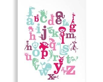 A4 Childrens Alphabet Print