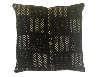 Vintage African Mud Cloth Pillow