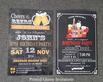 40th birthday invitation for men, 30th birthday invitation for him, 30th birthday for him, surprise 30th birthday invitation,
