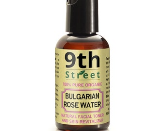 ROSE WATER 2 4 8 16 oz 100% Pure Bulgarian Organic Natural Facial Toner Cleanser Hydrosol - FREE U.S. shipping