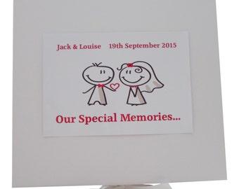 Personalised Wedding Keepsake Box With Bride and Groom Design