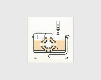 "Olympus Trip 35 - 5x5"" Screen Print"