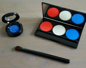 All American Girl Pretend Makeup Set For Your Munchkin - Play Makeup - Olympics - RIO 2016 - Kid Makeup - Red White and Blue - Team USA