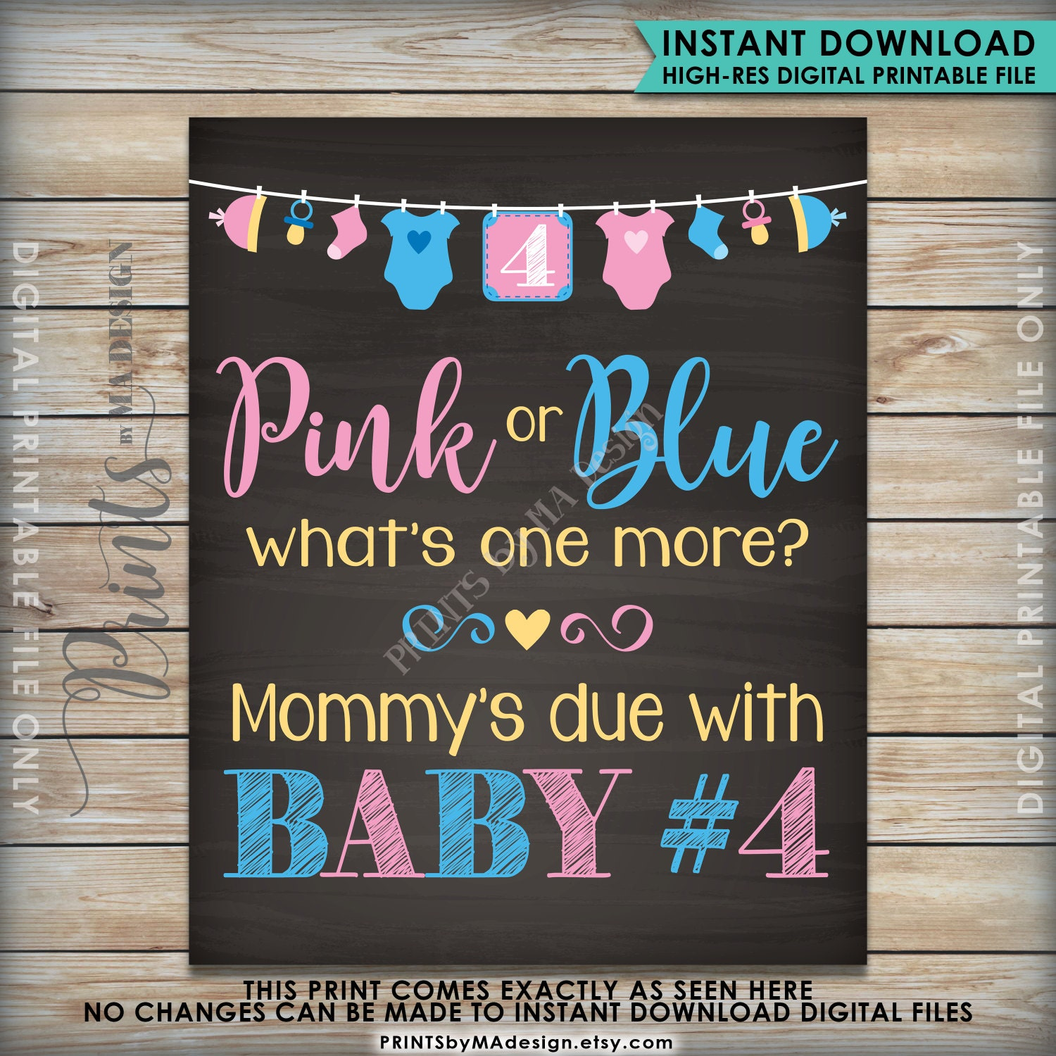 Baby Number 4 Pregnancy Announcement Pink Or Blue What S