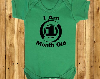 1 Month Old, First Month Milestone, One Month Photo Prop, Month Old Babygrow, Baby Photoshoot Outfit, New Baby, Milestone Marker Gift