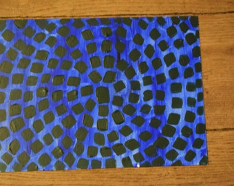 Abstract art canvas painting- ready to frame-wall art.
