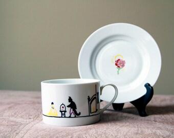 CUSTOM: Story Tea Cup & Saucer
