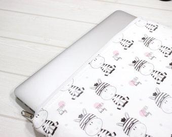 Ivory laptop sleeve, Macbook sleeve 12, zippered laptop case, HP Stream sleeve, laptop case for her, Macbook Air case, dainty laptop case