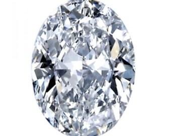 If Oval Russian Simulated Lab Diamond 6AAAAAA Loose Stones (3x2mm - 20x15mm)