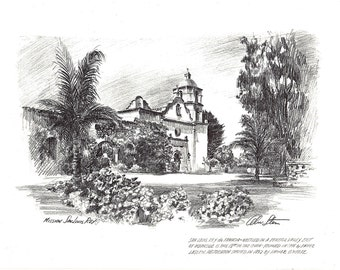 Mission San Louis Rey and on the back Mission San Gabriel by Alec Stern