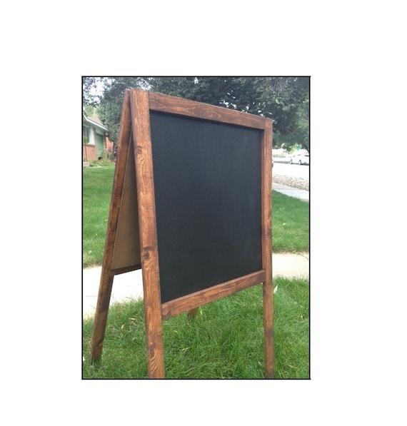large rustic chalkboard easel sandwich board. Black Bedroom Furniture Sets. Home Design Ideas