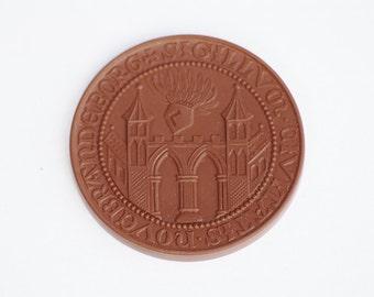 Meissen Plaque, Meissen Coin, Meissen Medallion, Meissen Porcelain Coin, Medal in Gift Box, Plaque in Gift Box