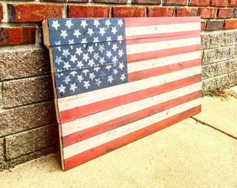 Pallet American Flag | pallet flag | home decor | American home decor | American flag | patriotic decor | gift for him | gift for soldier