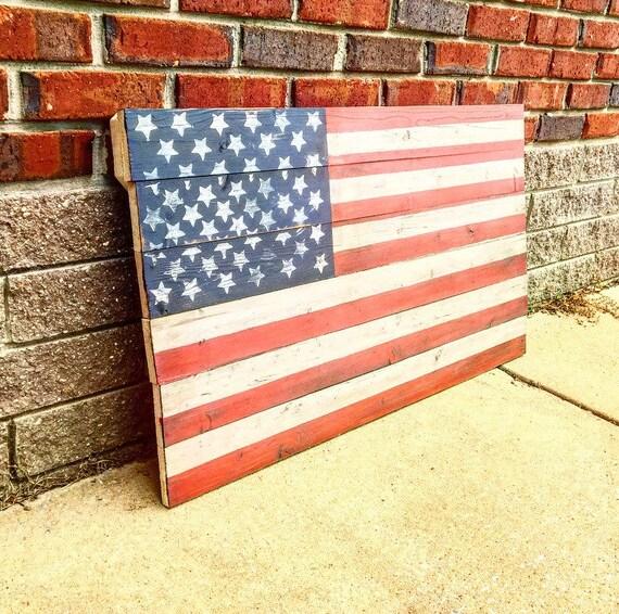 Pallet American Flag pallet flag home decor American