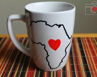 Love Africa sharpie mug