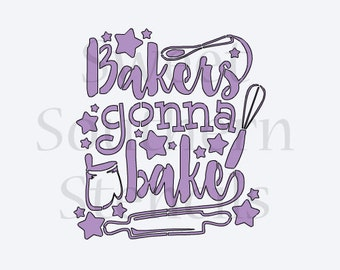 Bakers Gonna Bake Cookie Stencil