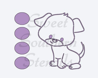 PYO Puppy Cookie Stencil