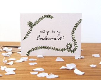 Will You Be My Bridesmaid Card - Wedding Cards, Bridesmaid Gifts, Bridal Party Gifts, Bridesmaid Question