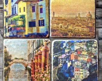 Italian Vistas Tile Set x4